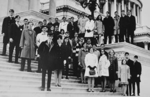 1969 Science Talent Search finalists at the Capitol. STS. Westinghouse.