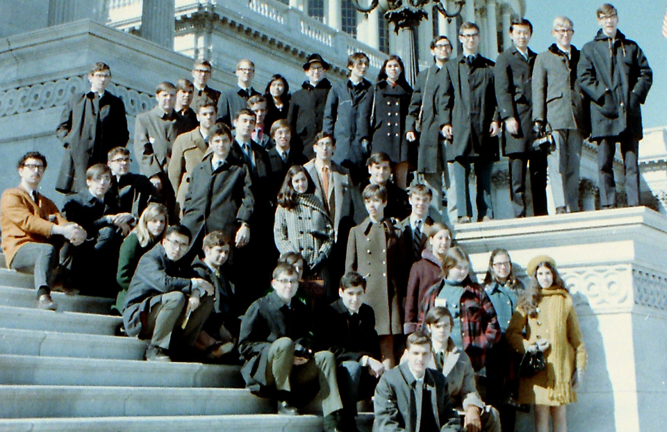 1970 Science Talent Search finalists at the Capitol. STS. Westinghouse.