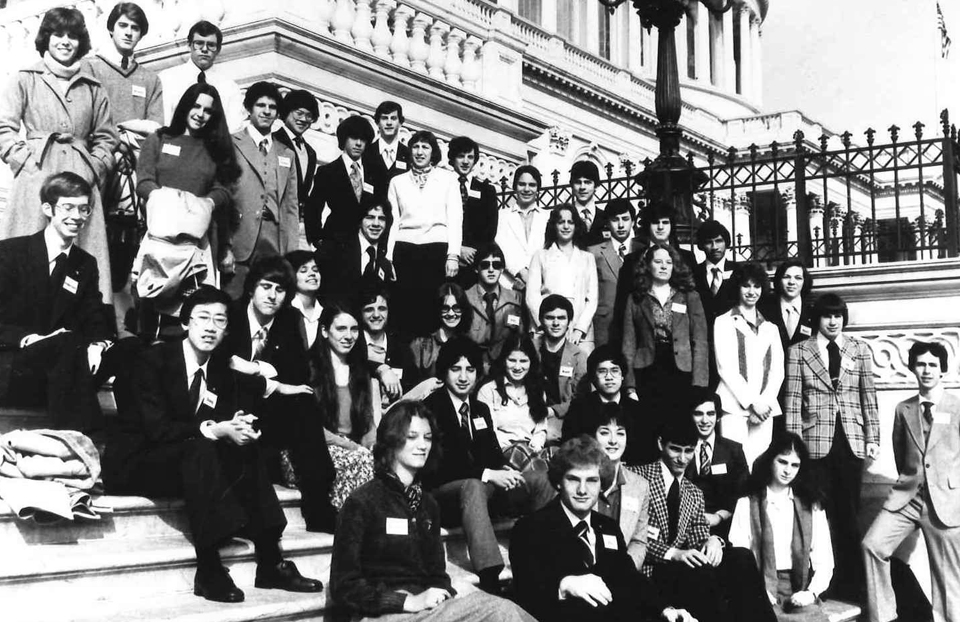1980 Science Talent Search Finalists at the Capitol. Westinghouse STS.