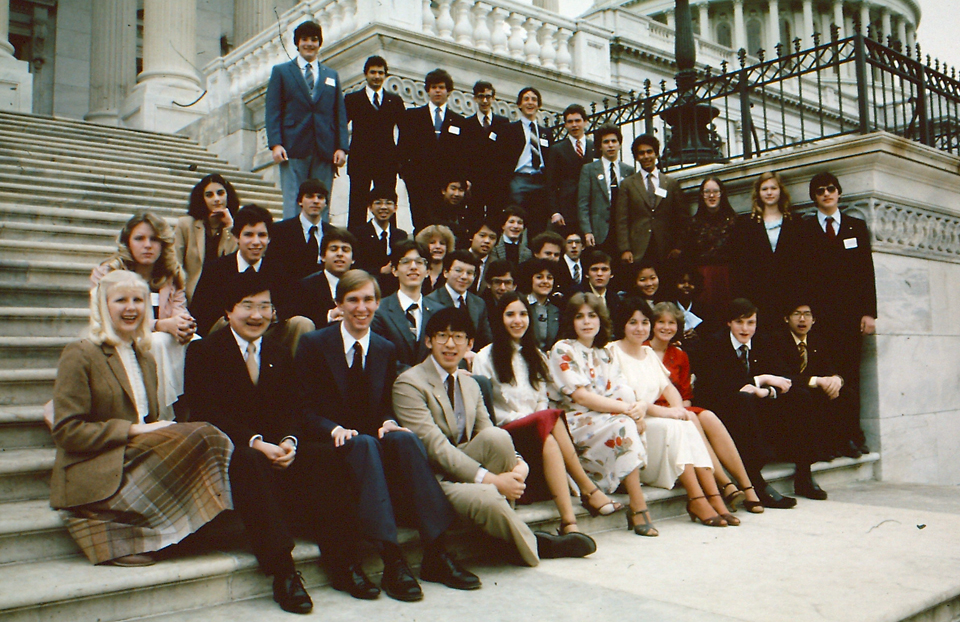 1982 Science Talent Search Finalists at the Capitol. Westinghouse STS.