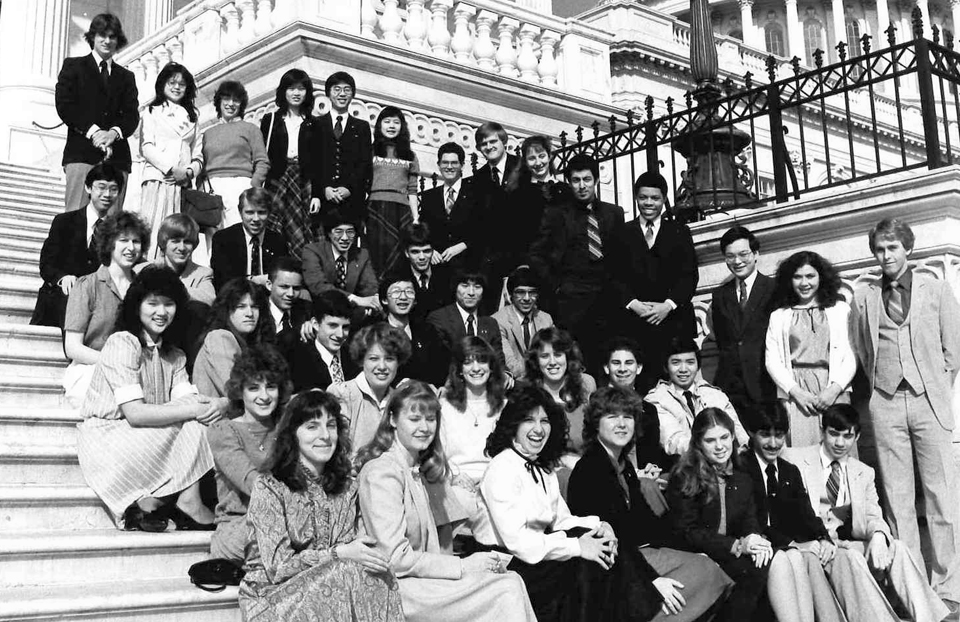 1983 Science Talent Search Finalists at the Capitol. Westinghouse STS.