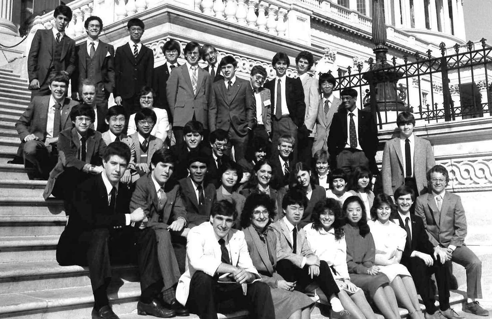 1984 Science Talent Search Finalists at the Capitol. Westinghouse STS.