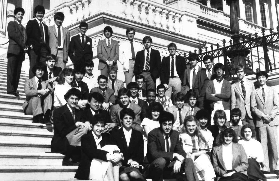 1985 Science Talent Search Finalists at the Capitol. Westinghouse STS.