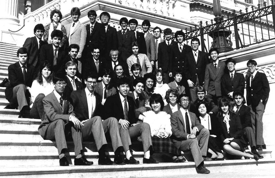 1986 Science Talent Search Finalists at the Capitol. Westinghouse STS.