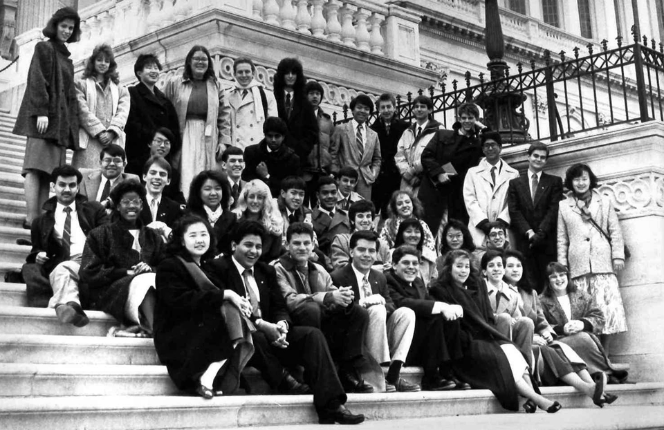 1988 Science Talent Search Finalists at the Capitol. Westinghouse STS.