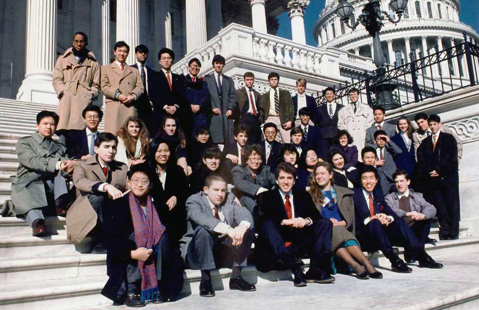 1990 Science Talent Search finalists at the Capitol. STS. Westinghouse.
