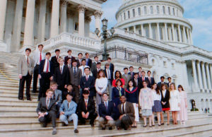 1992 Science Talent Search finalists at the Capitol. STS. Westinghouse.