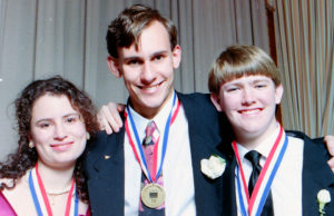 1992 Science Talent Search Top Three winners. . STS. Westinghouse.