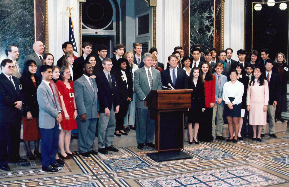1994 Science Talent Search Finalists At the White House with President Clinton and Vice President Gore.