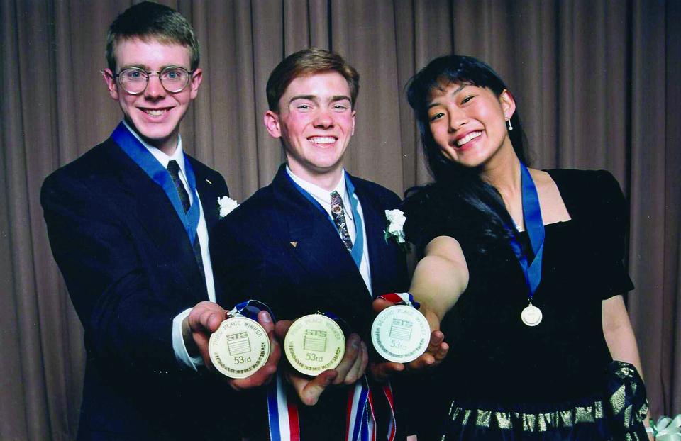 1994 Science Talent Search Top Three winners. STS.