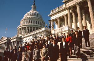1995 Science Talent Search Finalists on the Capitol steps. STS. Westinghouse