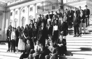 1996 Science Talent Search Finalists on the Capitol steps. STS. Westinghouse