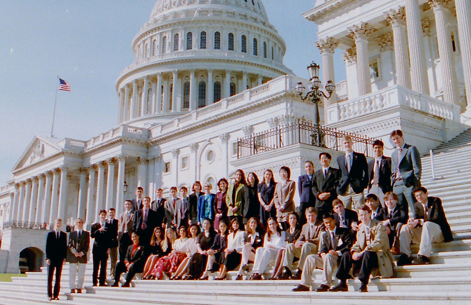 1997 Science Talent Search Finalists on the Capitol steps. STS.