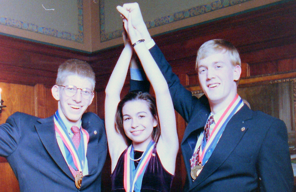 1997 Science Talent Search Top Three winners. STS.
