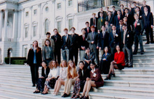 1998 Science Talent Search Finalists on the Capitol steps. STS.