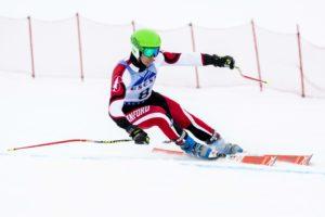 Demetri Maxim skiing