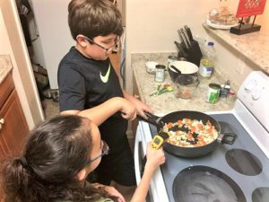 Students (and their parents) were excited to participate in hands-on science that could also be served as a family meal.