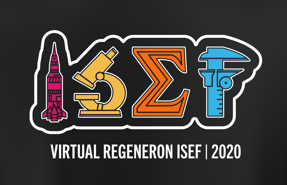 Limited Edition 2020 Virtual Regeneron ISEF T-shirt close up of logo