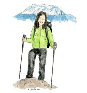 Illustration of 2020 STS finalist Zhifei Yu by Amy Wike