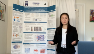 """Cynthia Chen and her project, """"Decoding Neural Networks: Discovery of Anti-Tumor B Cell Receptor Motifs Using a Novel Sequence-Based Computational Framework."""""""