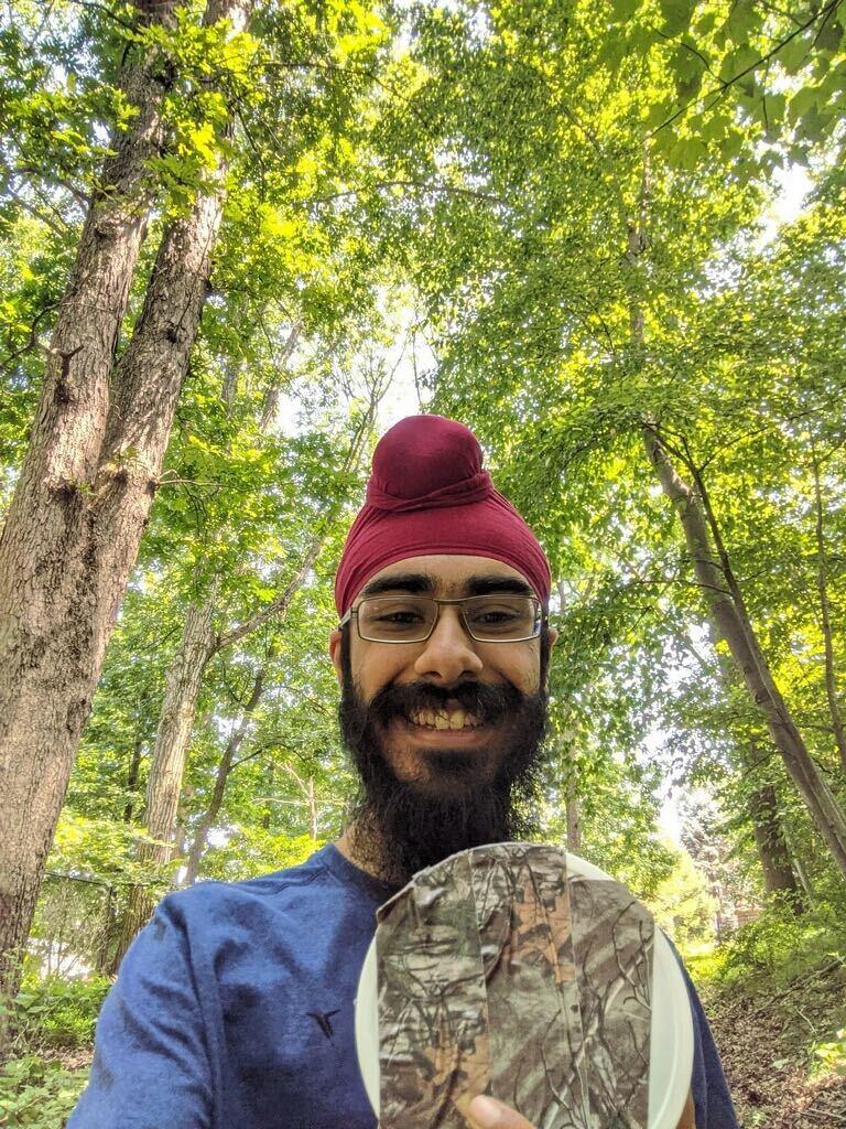 Jagdeep Bhatia, STS finalist, finds geocache in Green Brook, New Jersey