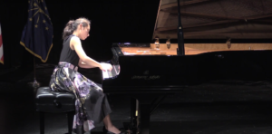 STS finalist, Nadine Meister plays piano