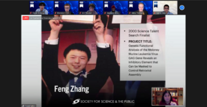 Feng Zhang was this year's guest for the Regeneron STS Alumni Dinner.
