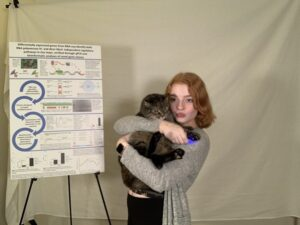STS finalists' furry friends also participated. Pictured: Adriane Thompson.