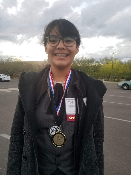 One of Reny's students was a grand prize winner at the Junior Science and Humanities Symposium at Arizona State University.