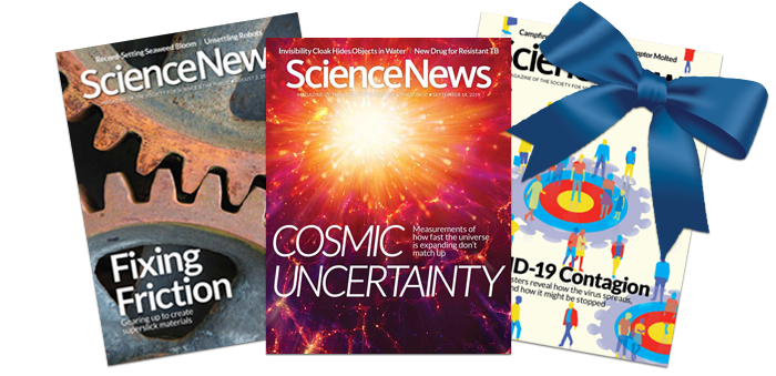 Science News covers 2020 - Give the gift of Science News!