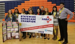 Melba's students entered the inaugural New Mexico Governor's STEM Challenge and won as state champions.