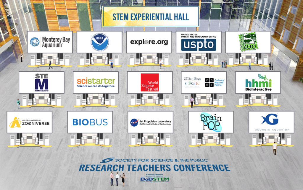 Organizations that will have booths at the STEM Experiential Hall.