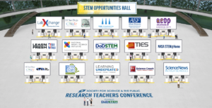 Organizations that will have virtual booths in the STEM Opportunities Hall.