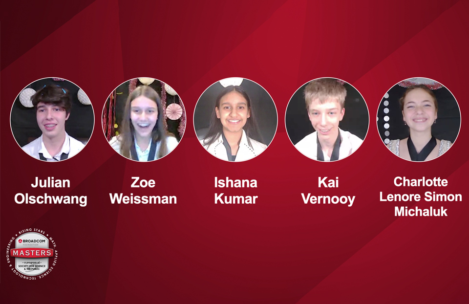 Top 5 2020 Broadcom MASTERS Awards Winners