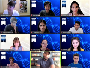 STS finalists met virtually with 5 different organizations to learn about STEM careers