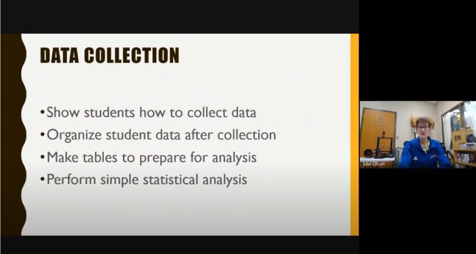 Screenshot of Julie's Presentation