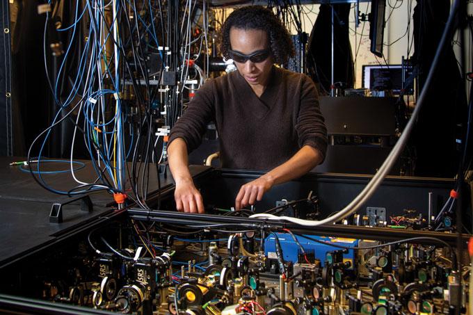 Monika Schleier-Smith lab photo