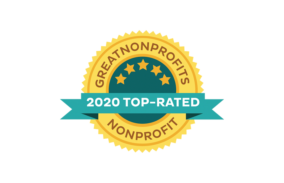 GreatNonProfits top rated 2020