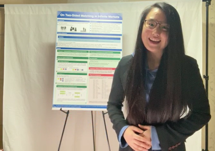 STS 2021 finalist Yunseo Choi with project board