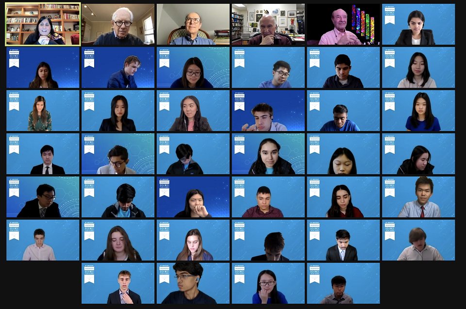 STS 2021 Nobel Panel zoom grid with finalists