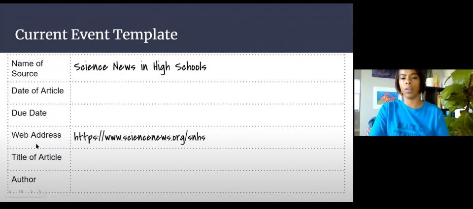 Screenshot of Episode 3 from SNHS Webinars