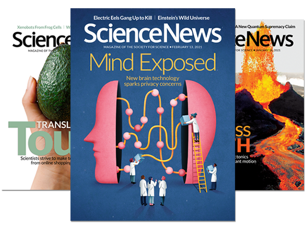Science News covers - 2021