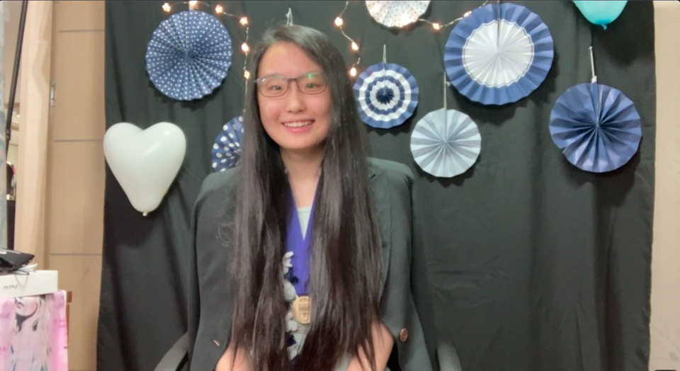 Photo of Yunseo Choi, the 1st place winner of the 2021 Science Talent Search