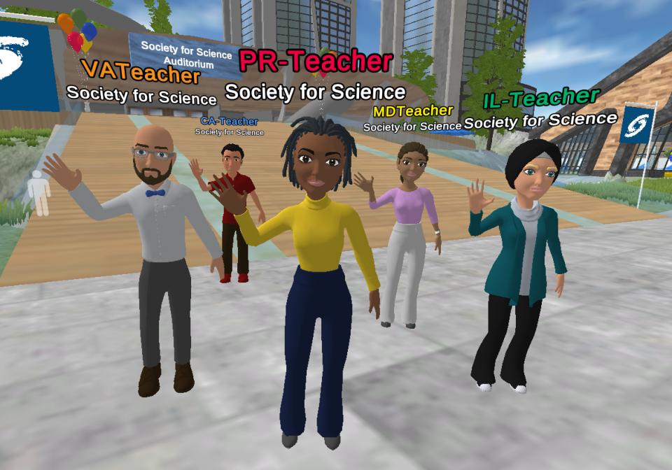 Teachers meet in EventFarm and dance with their virtual avatars