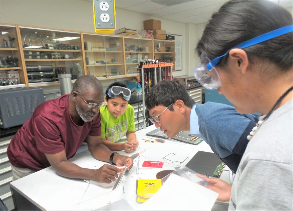 Advocate Nate Raynor works with students to help them enter top STEM competitions