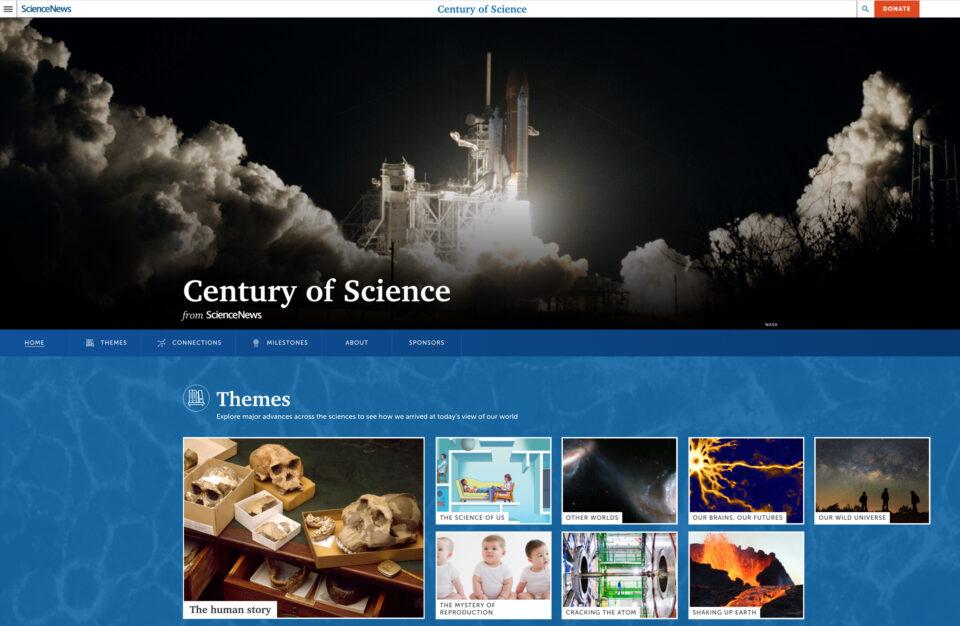 Century of Science Website