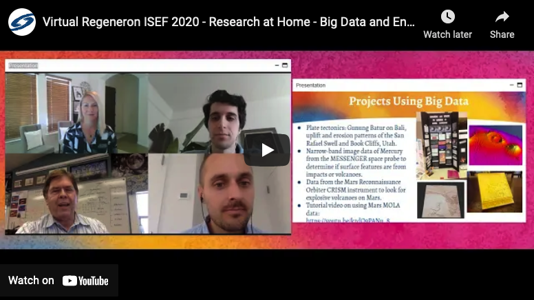 Virtual Regeneron ISEF 2020: Research at Home – Big Data and Engineering Edition