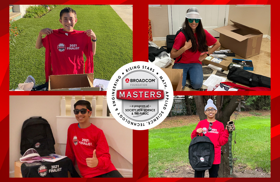 2021 Broadcom MASTERS finalists open their swag boxes